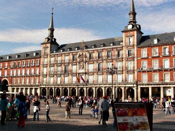 Plaza Mayor _ Madrid con mio figlio