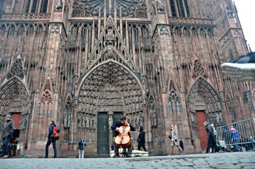 itinerario alsazia con bambini - Strasburgo cattedrale 2