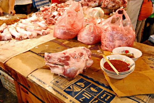 Cibo in laos - mercato 4