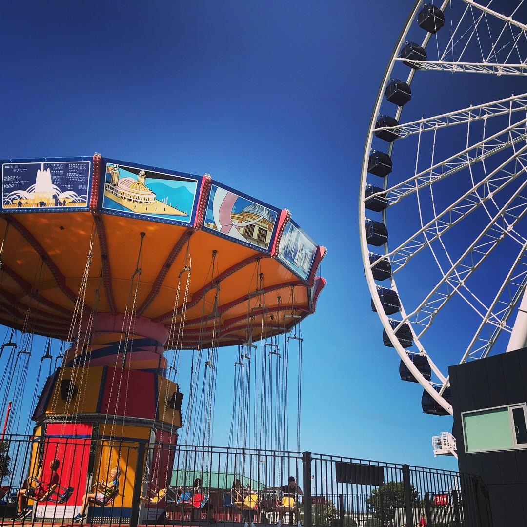 Canada e Stati Uniti con bambini- Chicago Ferry Wheel